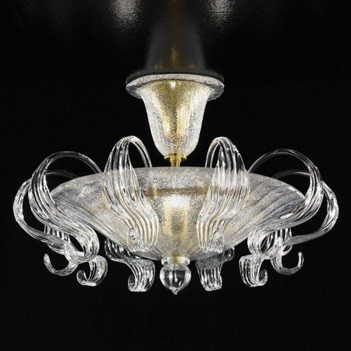 ATHENA - PLAFONIERA ARTISTICO 78cm - cristallo oro