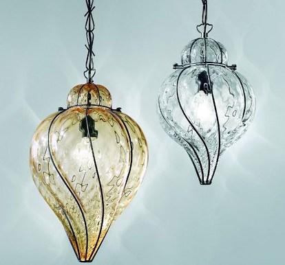 Lanterna Punta - Lanterna Veneziana Murano - Venetian Tradition - Stile Veneziano - Vetro Soffiato - Interno Esterno