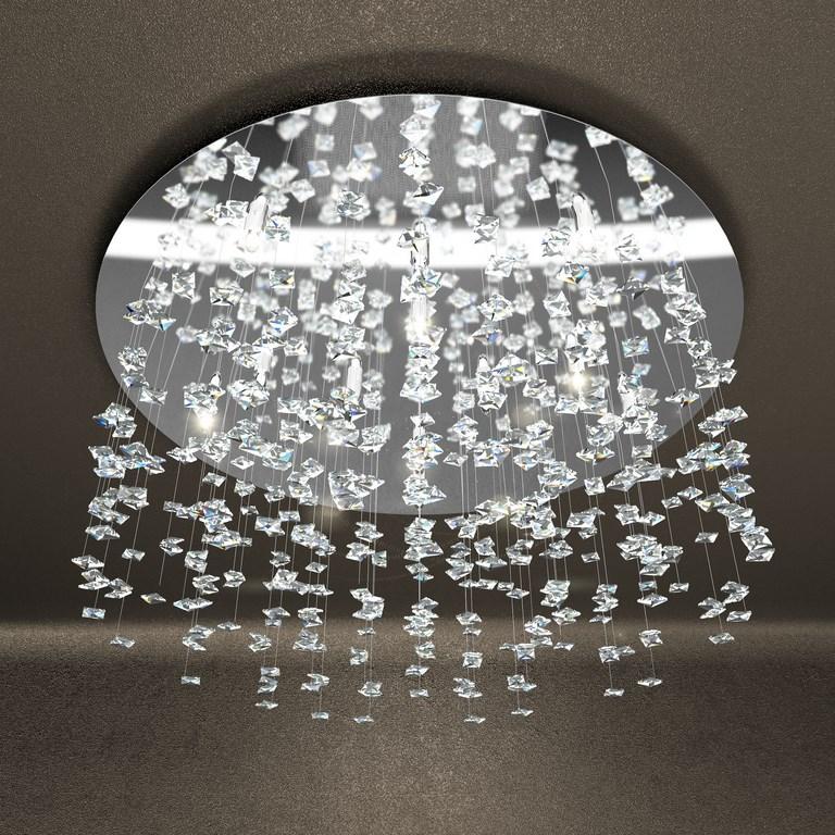 Flare plafoniera cristalli moderno