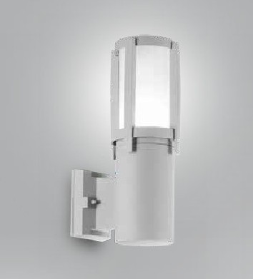 Applique esterno in alluminio Argento
