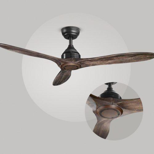 Horizon - ventilatore con pale in legno - metallo vernciato nero
