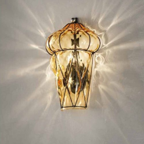Lanterna Applique - Vetro soffiato a mano - Made in Italy - 1xE14