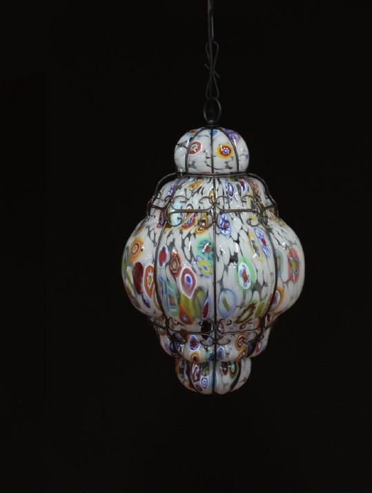 Lanterna Murrine Oval - Lanterna Veneziana - Luce 1xE27 - Indoor & outdoor -Lanterna veneziana murano - Vetro soffiato a mano