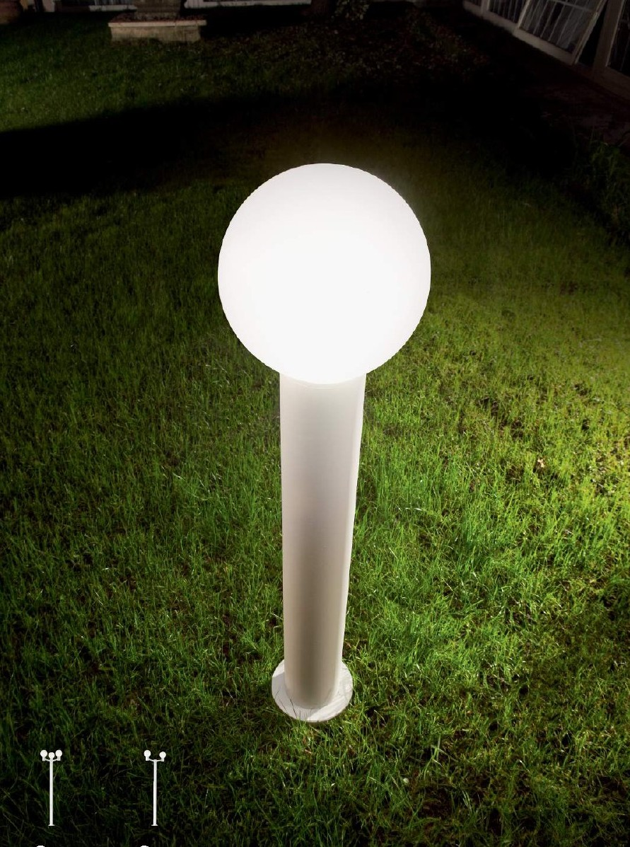 Symphony - Palo Bianco - Diffusore Sfera - Luce da esterno - lighting outdoor - ideallux