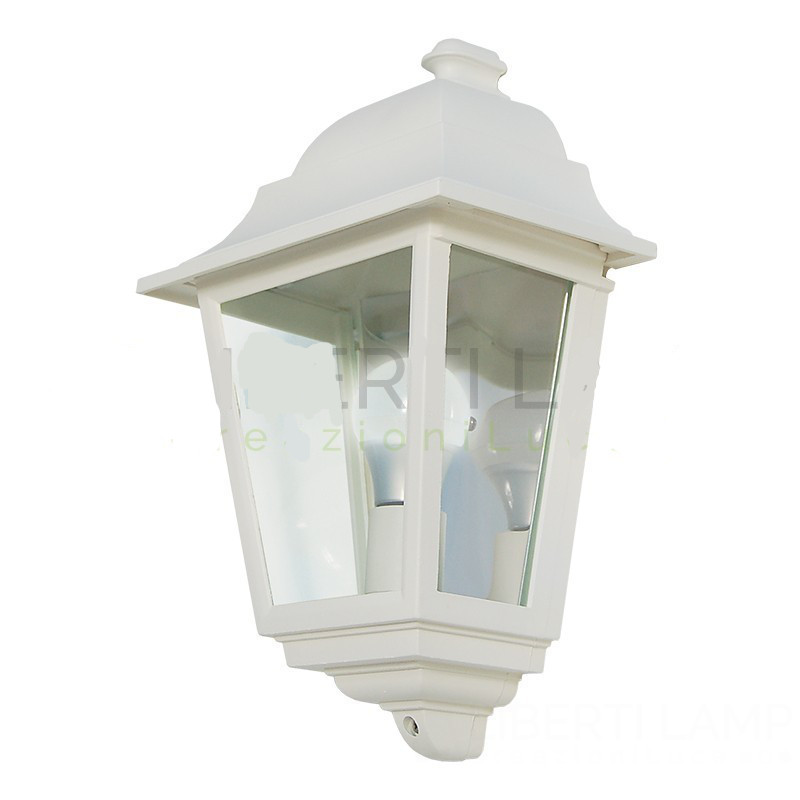 Applique corta- colore bianco goffrato - Luce da esterno - Applique - Linea tradizionale