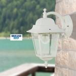 ATHENA BIANCO - colore bianco goffrato - luce da esterno - alluminio pressofuso