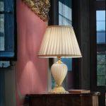 Farmese - Lampada colore Avorio - Paralume Avorio + Filo Oro