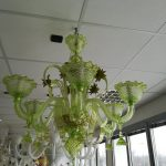 Nature - Lampadario Verde 6 Luci -