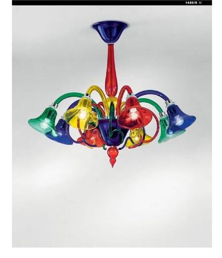 Lampadario Multicolore - Luci Giù - Sylcom