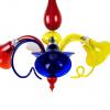 Lampadario Multicolore 3 luci - Vetro veneziano