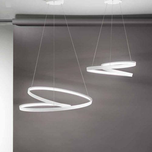 RITMOS - SOSPENSIONE A LED - COLORE BIANCO