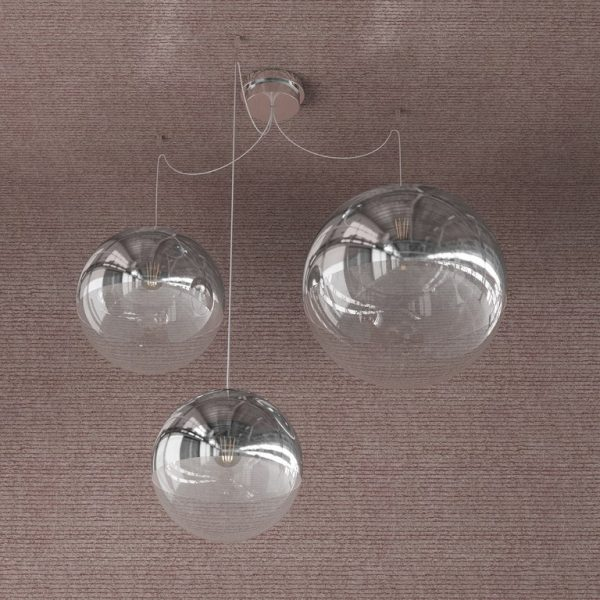 SILVER BALL- SOSPENSIONE - MIX 3 LUCI