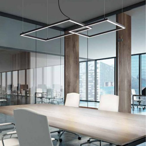 ACROSS duo - 2 riquadri - Led Integrato