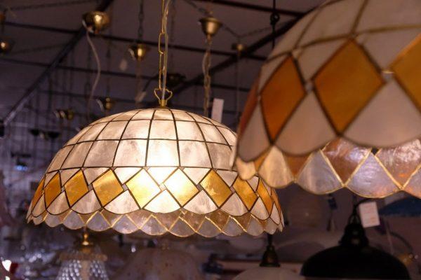 LAMPADE IN MADREPERLA - SOSPENSIONE 50cm - 1xE27
