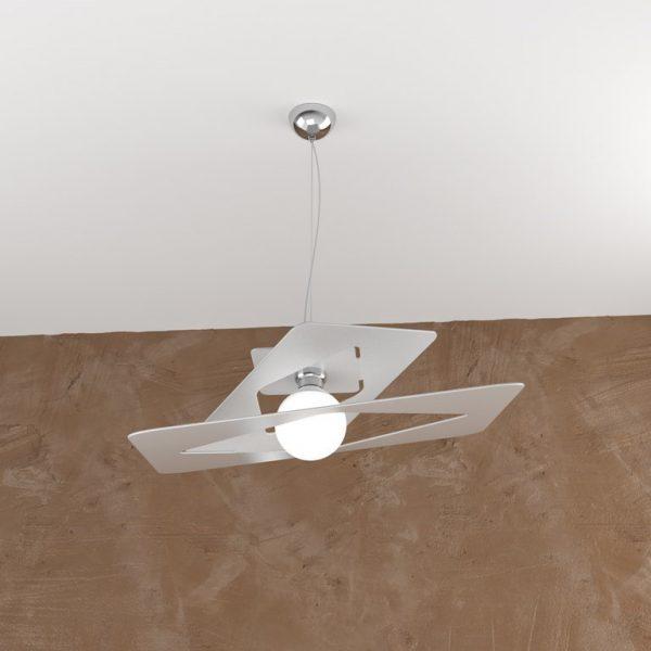 WICKED - LAMPADARIO 70cm - METALLO GRIGIO