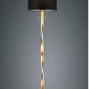 NANDOR - LAMPADA DA TERRA CON LUCE A LED - METALLO - PARALUME IN TESSUTO -7W LUCE A LED