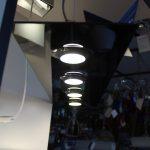 POIS- Sospensione 4 luci - Vetro lucido nero