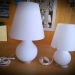 BLANC - LAMPADE IN VETRO SOFFIATO BIANCO - DESIGN MODERNO - VETRO SOFFIATO - LAMPADA FOREVER