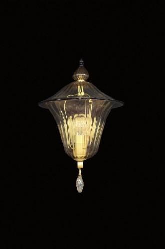 Applique Lanterna Antique - Lanterna veneziana - cristallo anticato con bordo blue - vetro soffiato