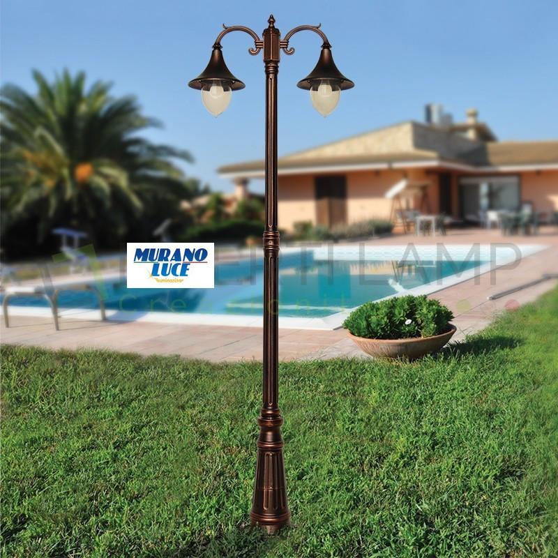 Kros - Palo 2 Luci - Luce da esterno - lighting outdoor - made in italy