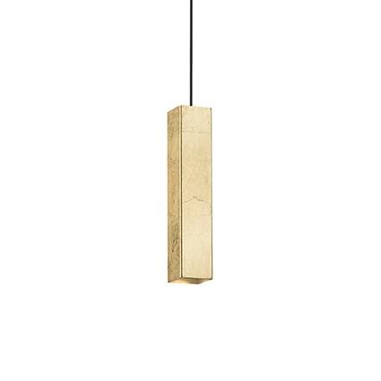 Sospensione Moderna -Metallo - Foglia Oro - 1xGU10