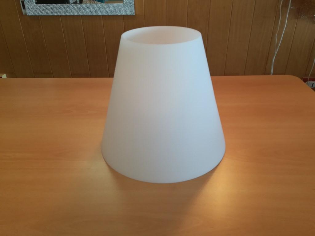 PARALUME IN VETRO SOFFIATO BLANCFOREVER 34cm - COMPATIBILE CON ALTRE LAMPADE DELLA STESSA LINEA SIMILI
