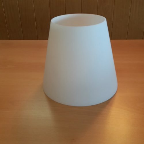 PARALUME IN VETRO SOFFIATO BLANC/FOREVER 24cm - COMPATIBILE CON ALTRE LAMPADE DELLA STESSA LINEA SIMILI