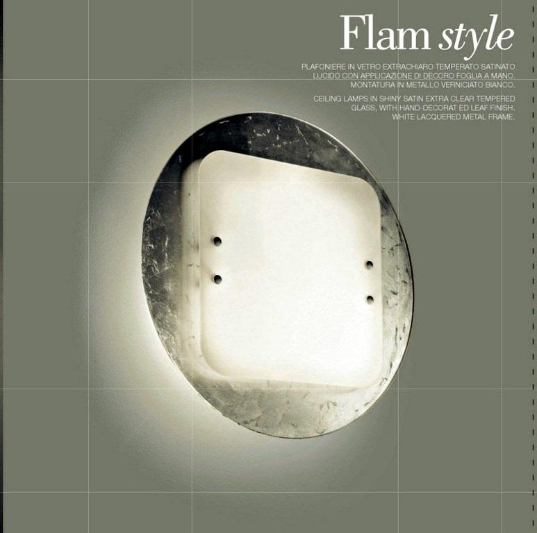 FLAM STYLE -PLAFONIERA COLORE FOGLIA
