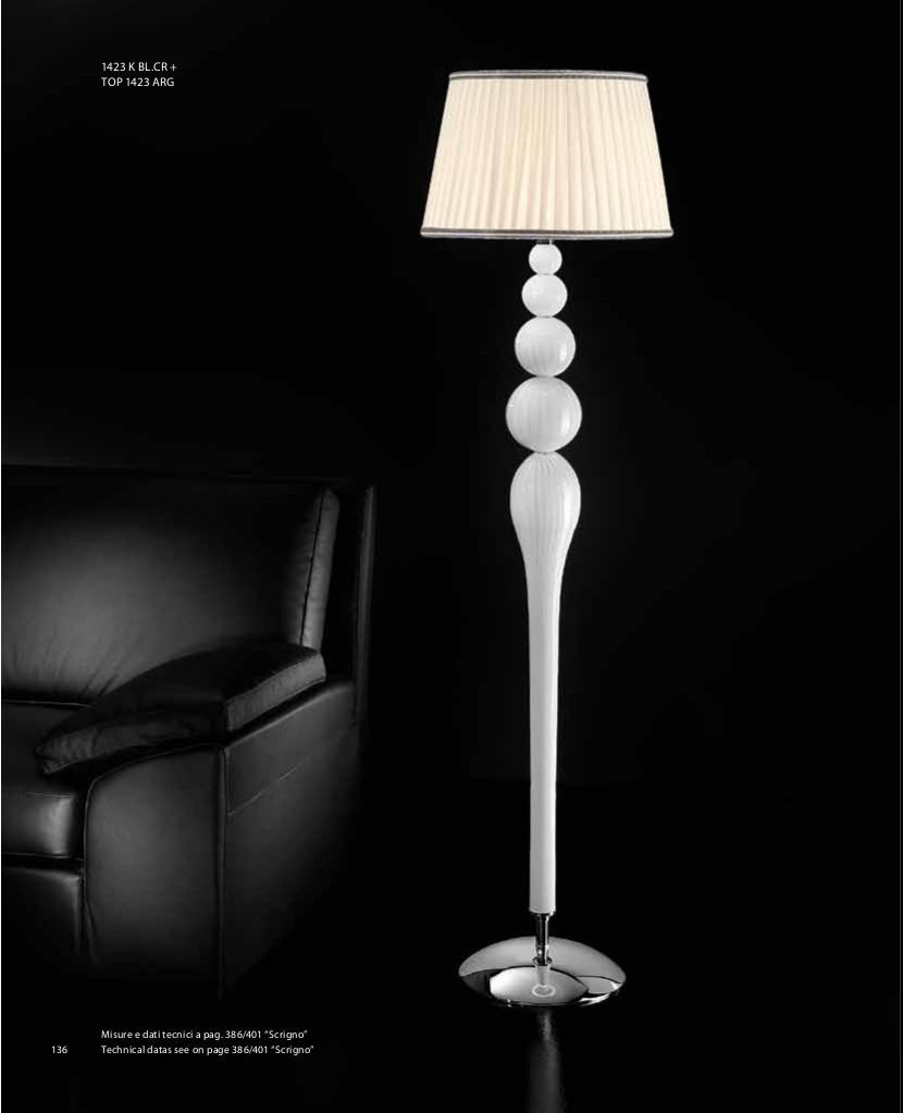 Borbone Lampada a stelo - Bianco Latte cristallo