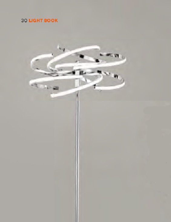 Tornado cr - Lampada da Terra in cromo lucido - Led 70W - 3000 k° - 5600 lm