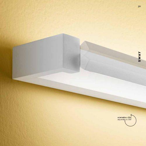WAY - APPLIQUE MODERNA CON BARRE ORIENTABILI 300° - LED INTEGRATO