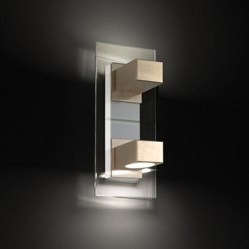 CLAIRE APPLIQUE BILUCE - RETROILLUMINAZIONE LED BLU - LAMPADA GX53 - VETRO CRISTALLO MOLATO