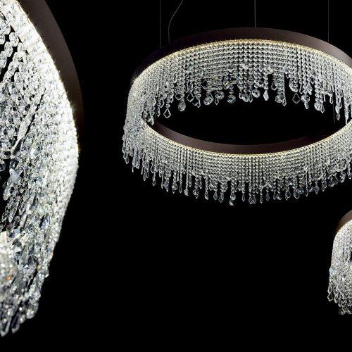 ECLISSE spettacolare elegante Lampade con cristalli
